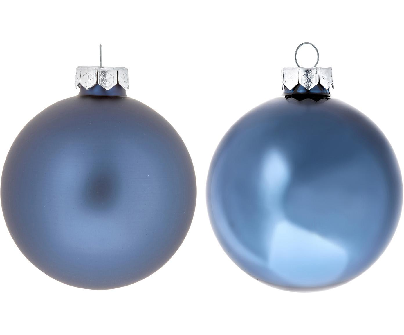 Kerstballenset Evergreen Ø8cm, 6-delig, Donkerblauw, Ø 8 cm