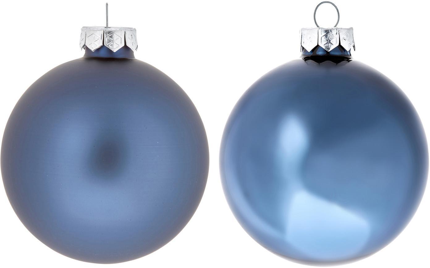 Set de bolas de Navidad Evergreen, Ø8cm, 6pzas., Azul oscuro, Ø 8 cm
