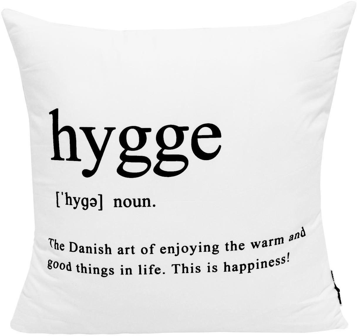 Poszewka na poduszkę Hygge, Poliester, Czarny, biały, S 45 x D 45 cm