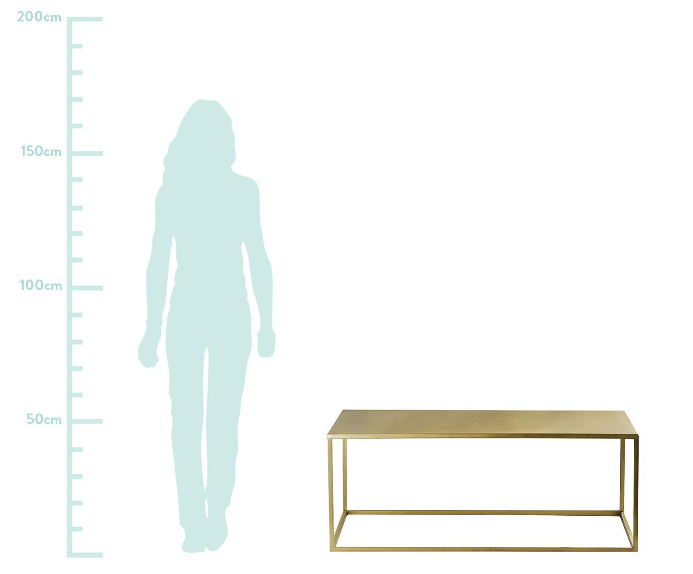 Mesa de centro de metal Stina, Metal con pintura en polvo, Dorado mate, An 90 x Al 45 cm