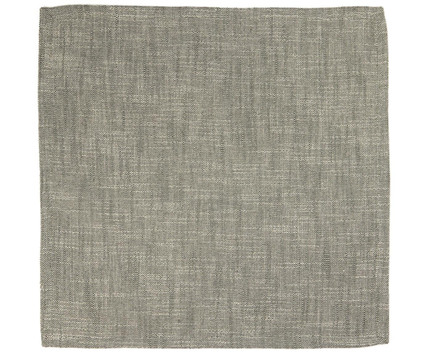Stoffen servetten Tonnika, 4 stuks, Katoen, Grijs, 45 x 45 cm
