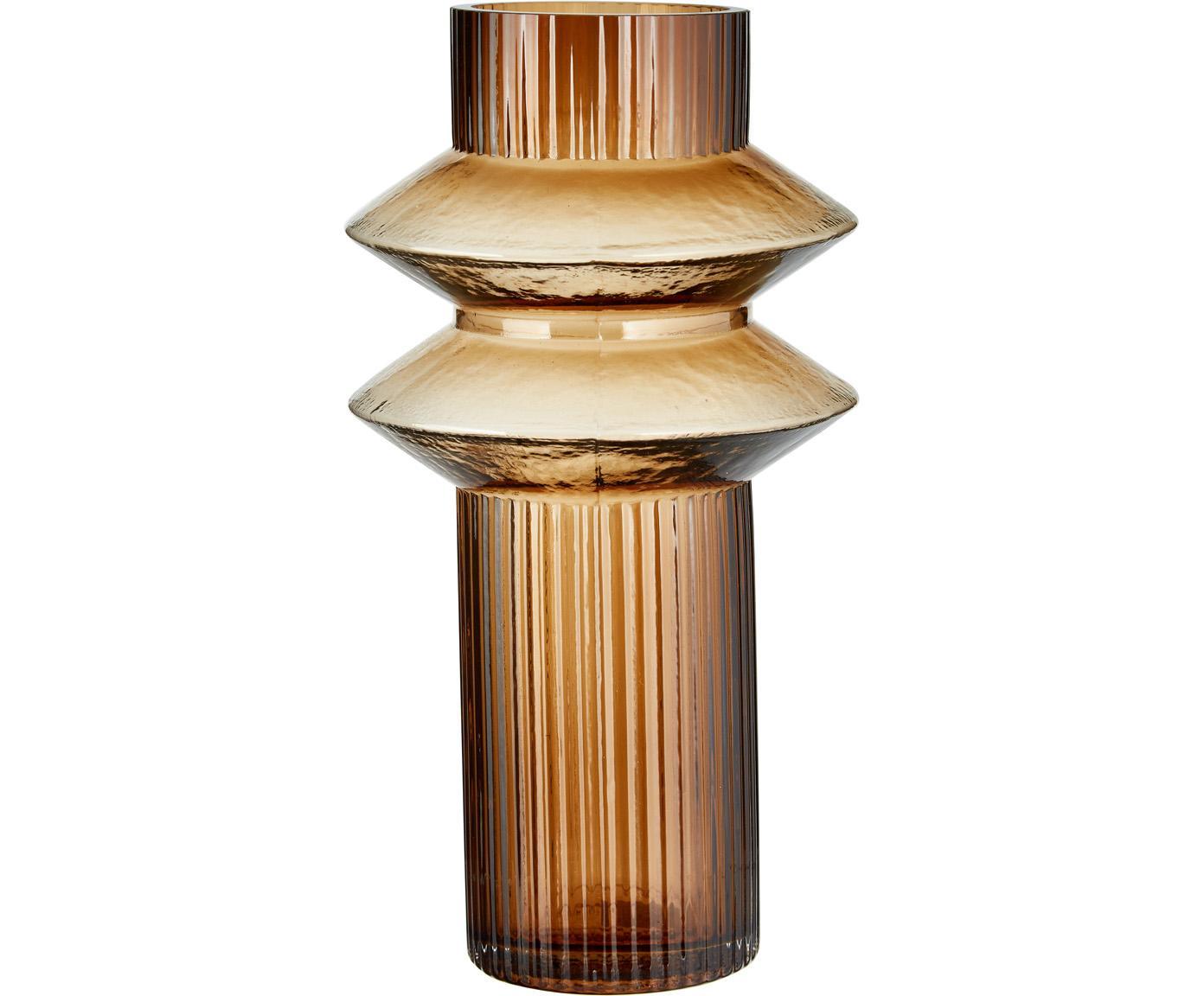 Vaas Rilla, Glas, Amberkleurig, Ø 9 x H 32 cm