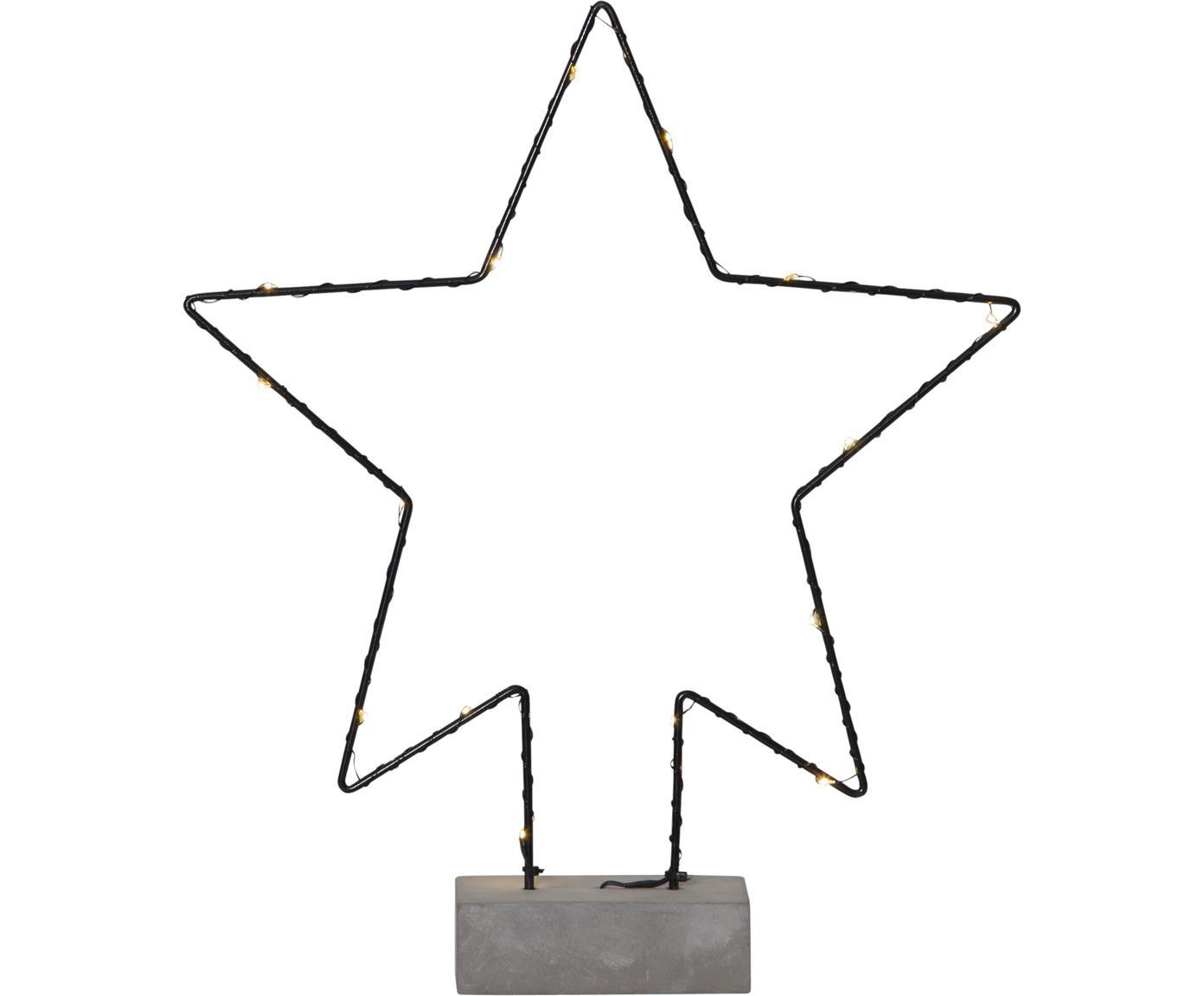 LED Leuchtobjekt Cemmy, batteriebetrieben, Sockel: Beton, Schwarz, Betongrau, 30 x 36 cm