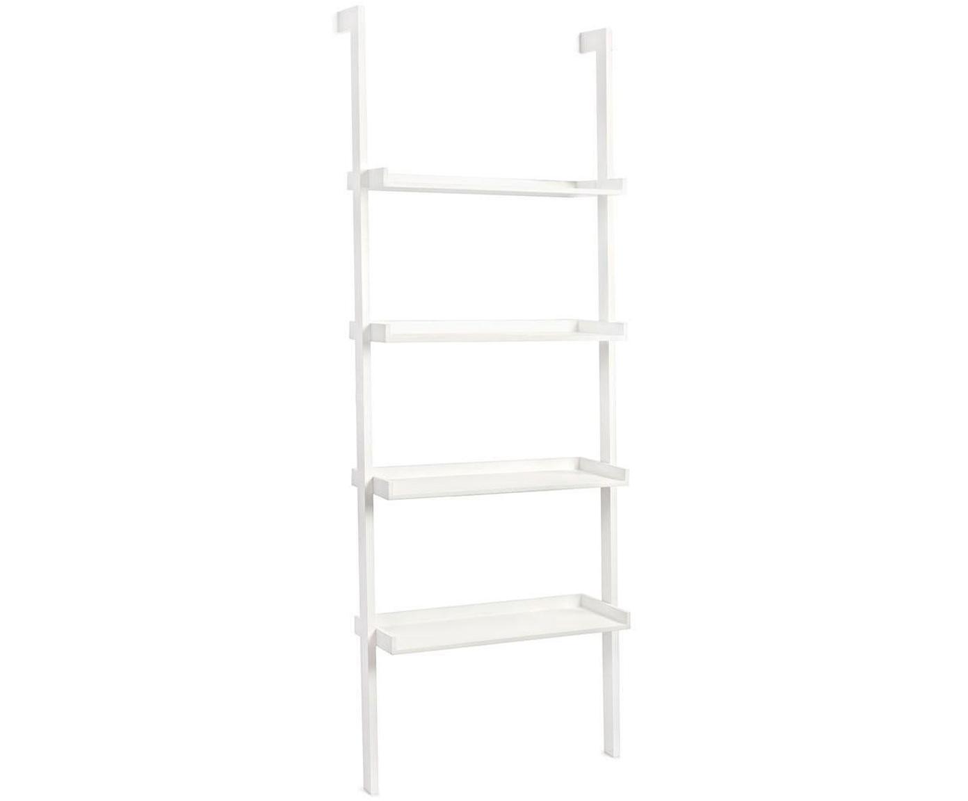 Estantería Porthos, Estructura: tablero de fibras de dens, Blanco, An 67 x Al 180 cm