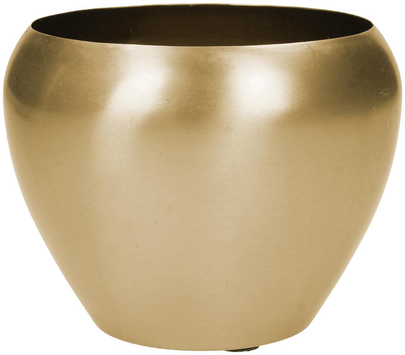 Portavaso in metallo Pat, Metallo rivestito, Ottonato, Ø 12 x Alt. 10 cm