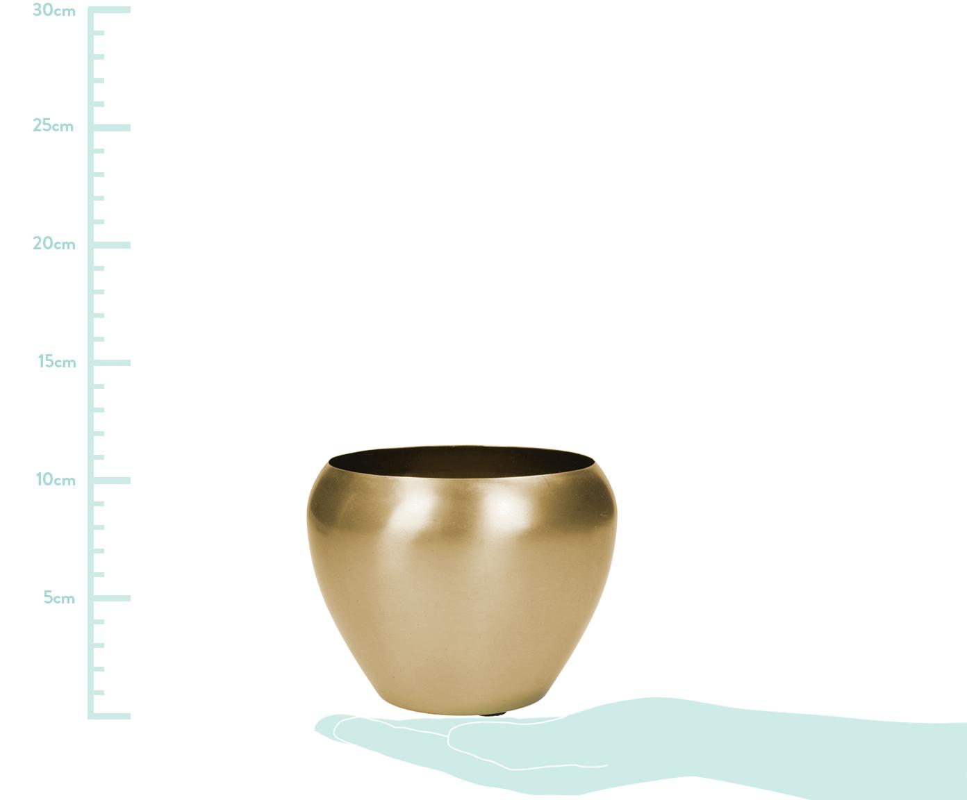 Portavaso Pat, Metallo rivestito, Ottonato, Ø 12 x Alt. 10 cm