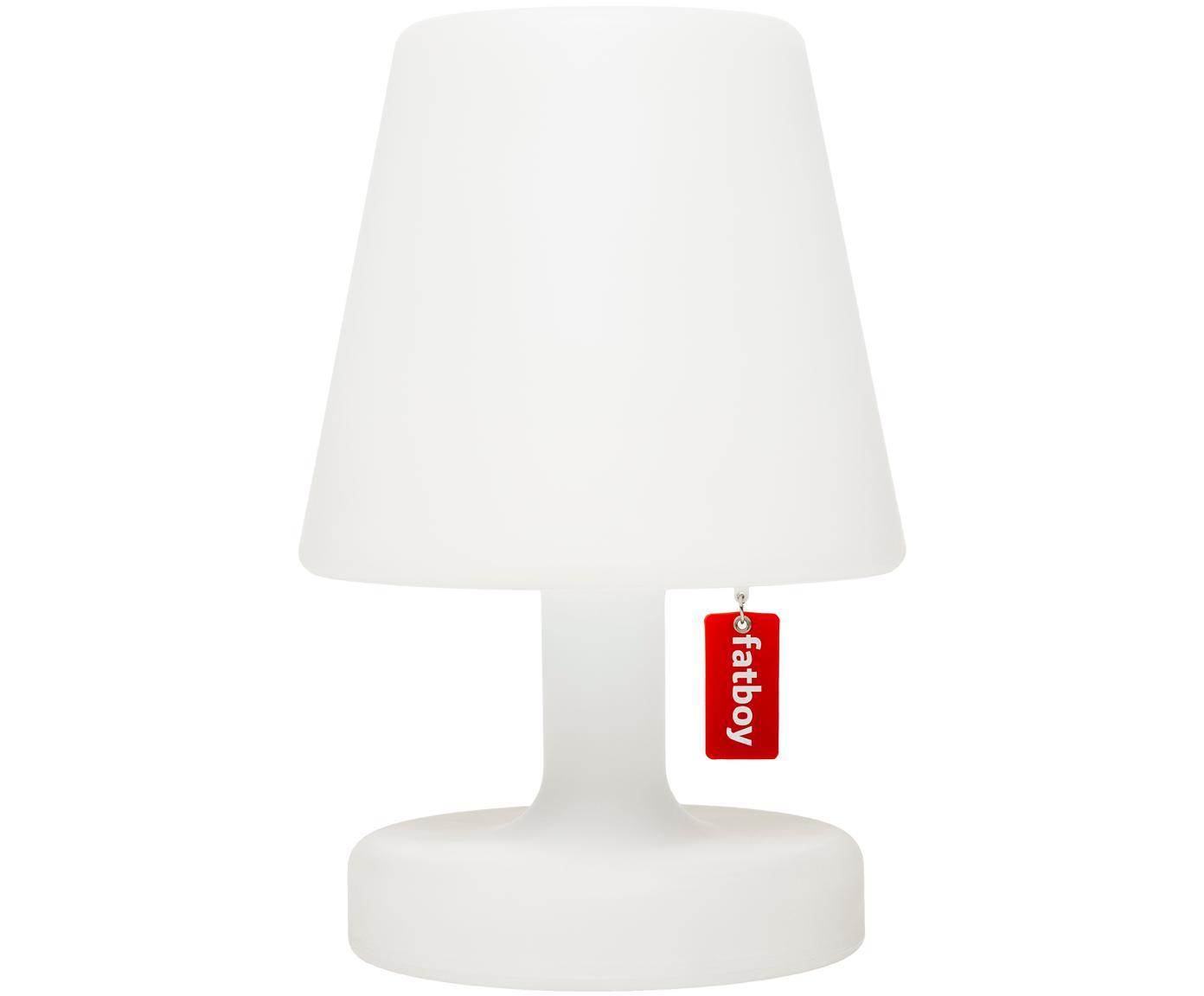 Mobile LED Außentischleuchte Edison the Petit, Kunststoff, Weiß, Ø 16 x H 25 cm