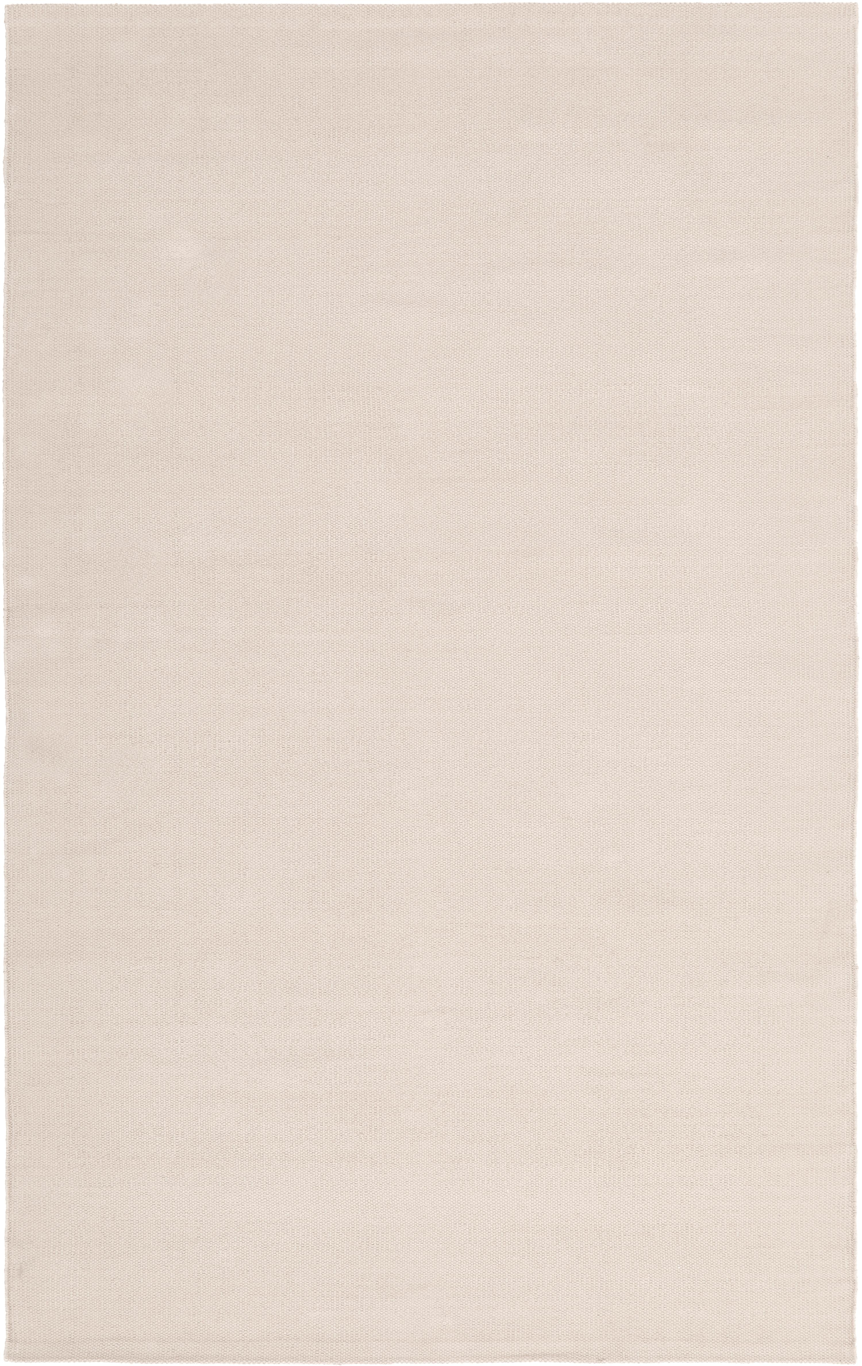 Dun handgeweven katoenen vloerkleed Agneta, Katoen, Beige, B 50 x L 80 cm (maat XXS)