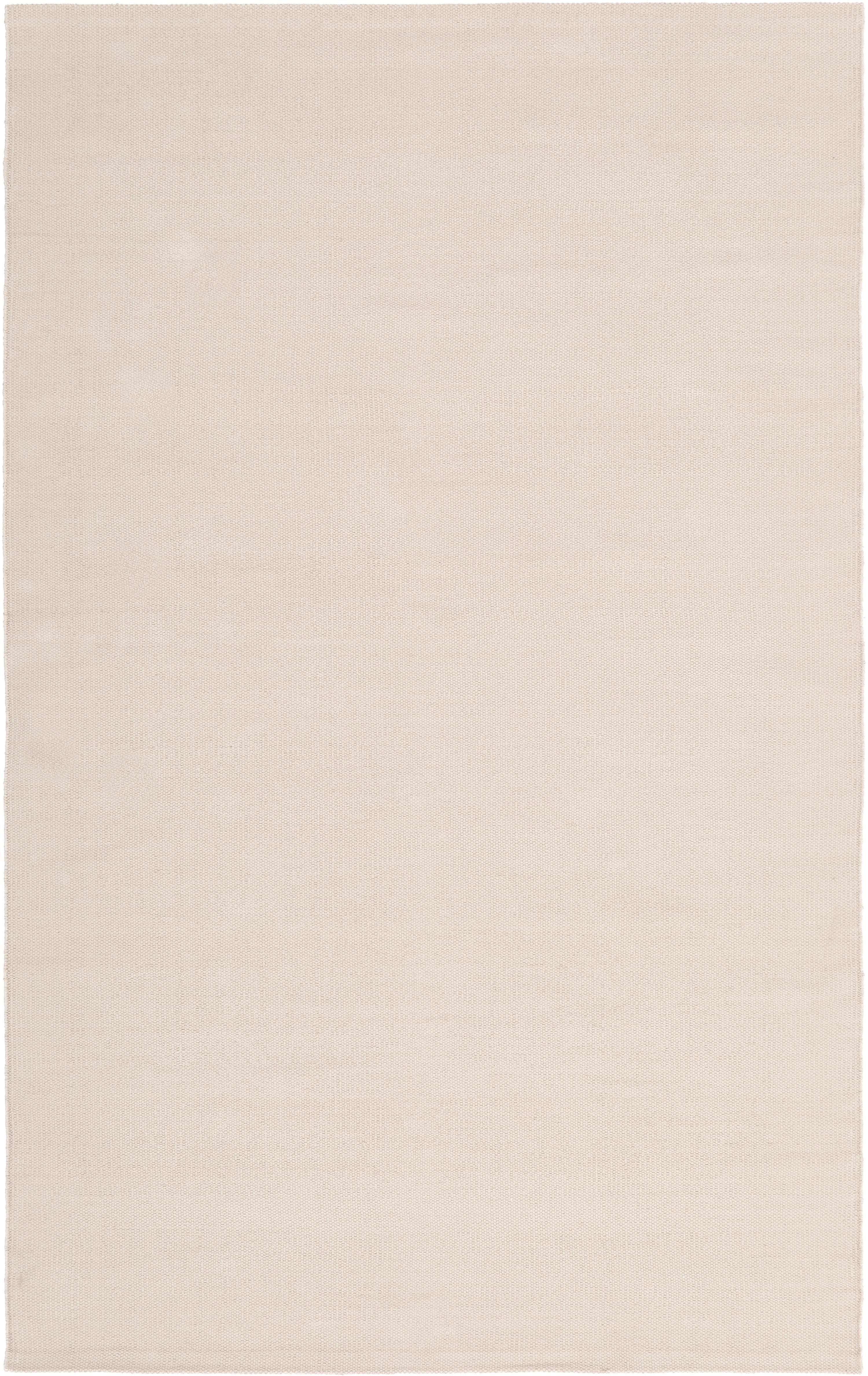 Tenký ručne tkaný bavlnený koberec Agneta, Béžová