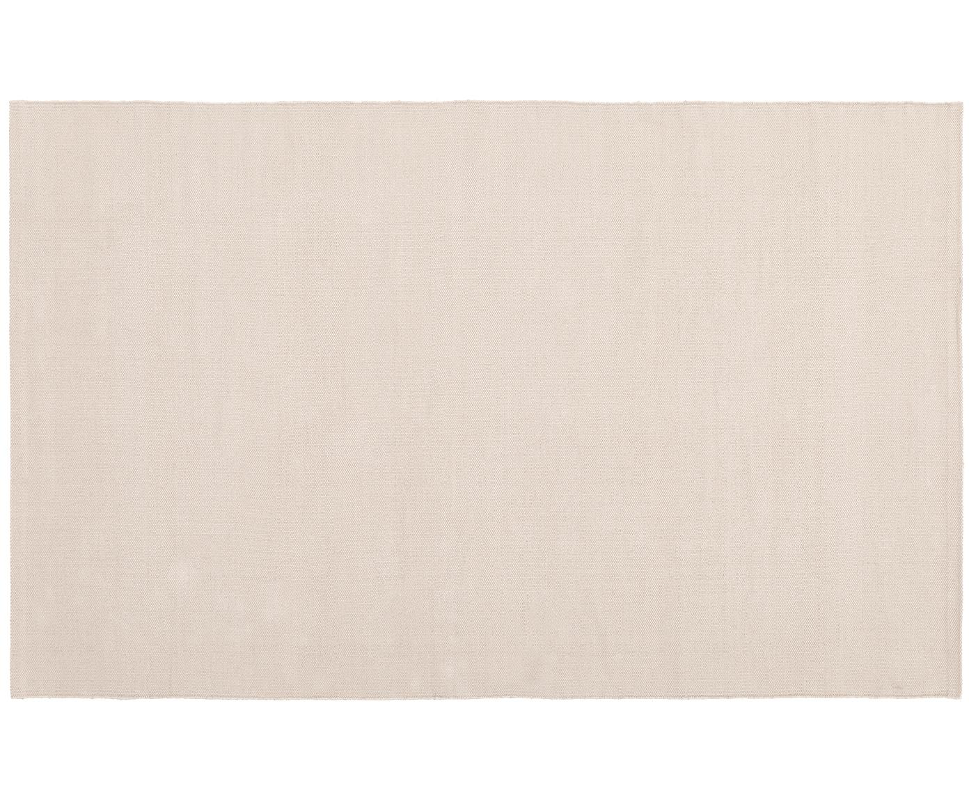 Dünner Baumwollteppich Agneta, handgewebt, 100% Baumwolle, Beige, B 50 x L 80 cm (Grösse XXS)