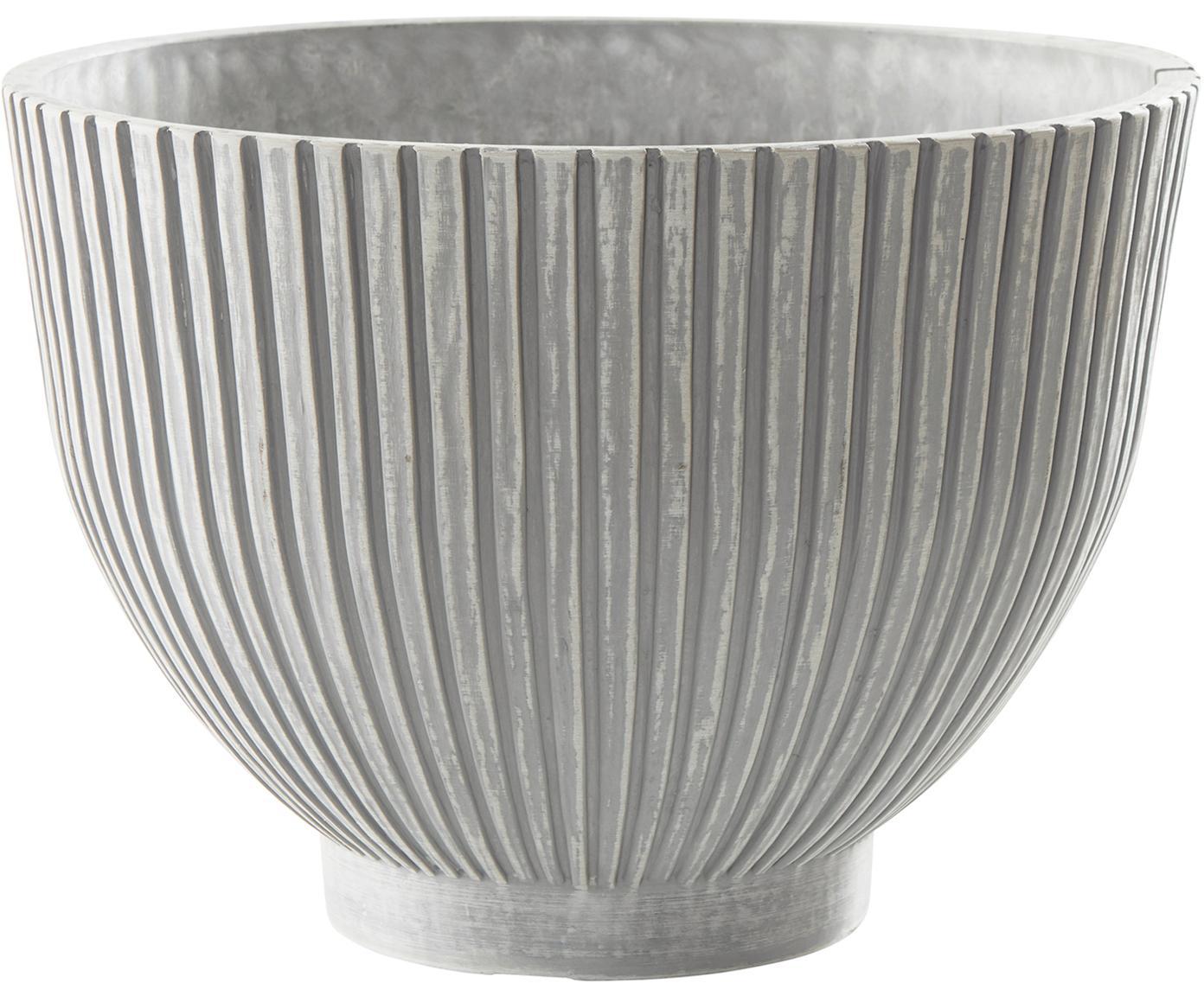 Übertopf Eileen in Beton-Optik, Kunststoff, Grau, Ø 35 x H 25 cm