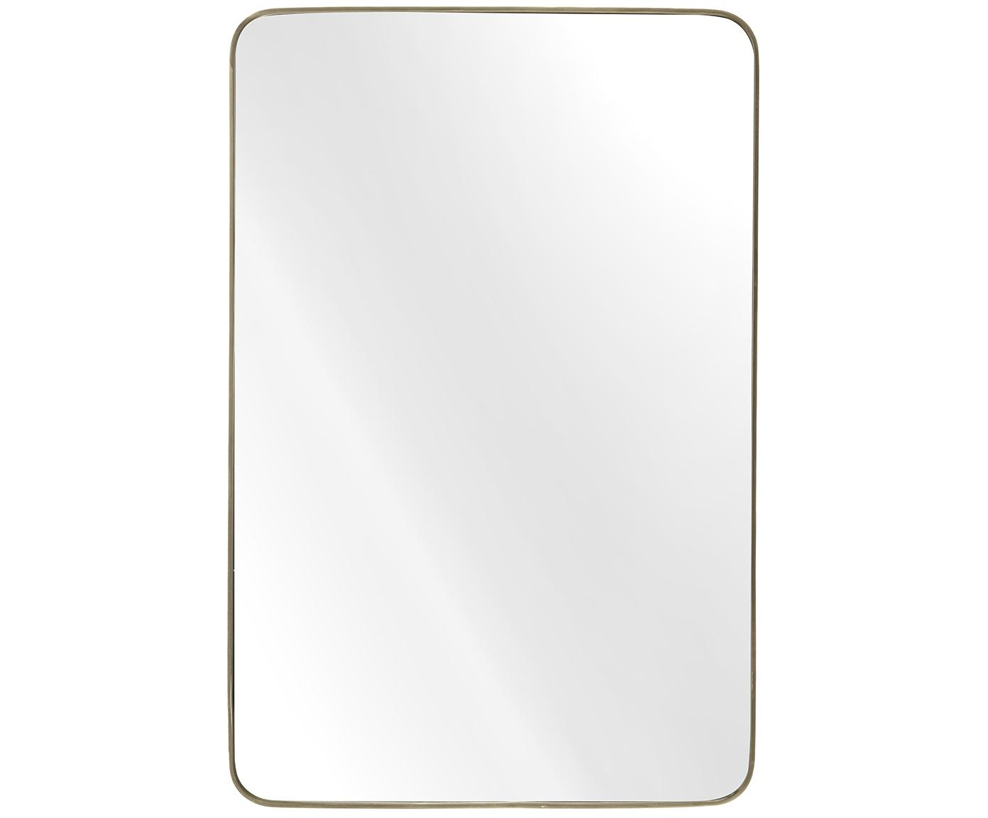 Wandspiegel Adela, Frame: vermessingd metaal, Messingkleurig, 60 x 91 cm