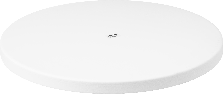 Rundes Deko-Tablett Circle in Weiß, Edelstahl, pulverbeschichtet, Weiß, matt, Ø 30 x H 2 cm