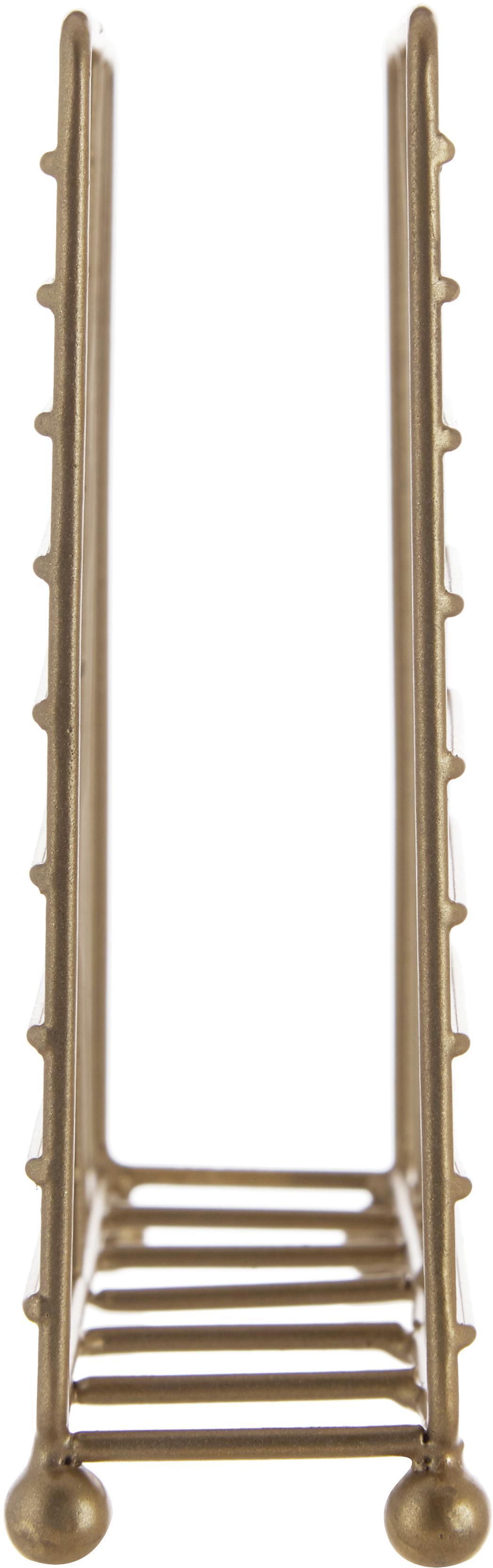 Serviettenhalter Magazin, Metall, beschichtet, Messing, 16 x 4 cm