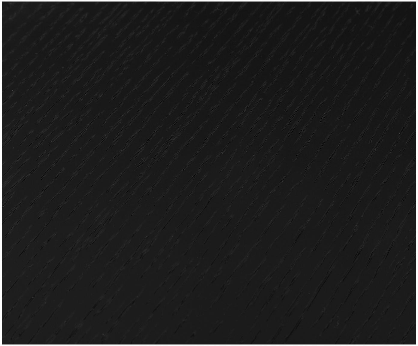 Stolik kawowy z drewnianym blatem Mica, Blat: płyta pilśniowa (MDF), fo, Stelaż: metal malowany proszkowo, Blat: fornir z drewna dębowego, czarny lakierowany Nogi: czarny, matowy, Ø 82 x W 41 cm