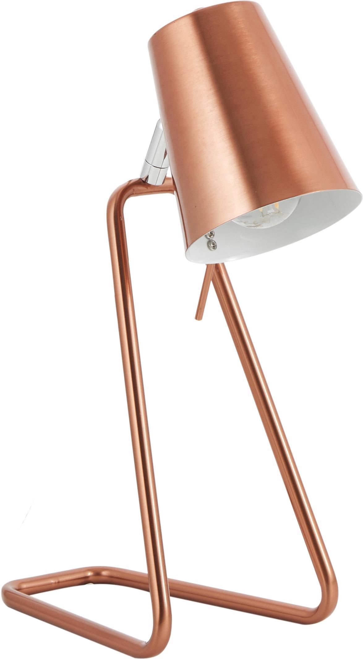 Scandi tafellamp Z, Lamp: gelakt metaal, Koperkleurig, 16 x 35 cm