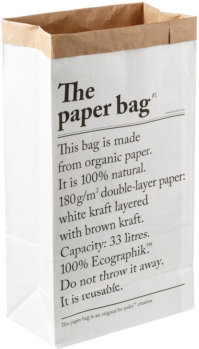 Opbergzak Le sac en papier, 33l, Gerecycled papier, Wit, 32 x 60 cm