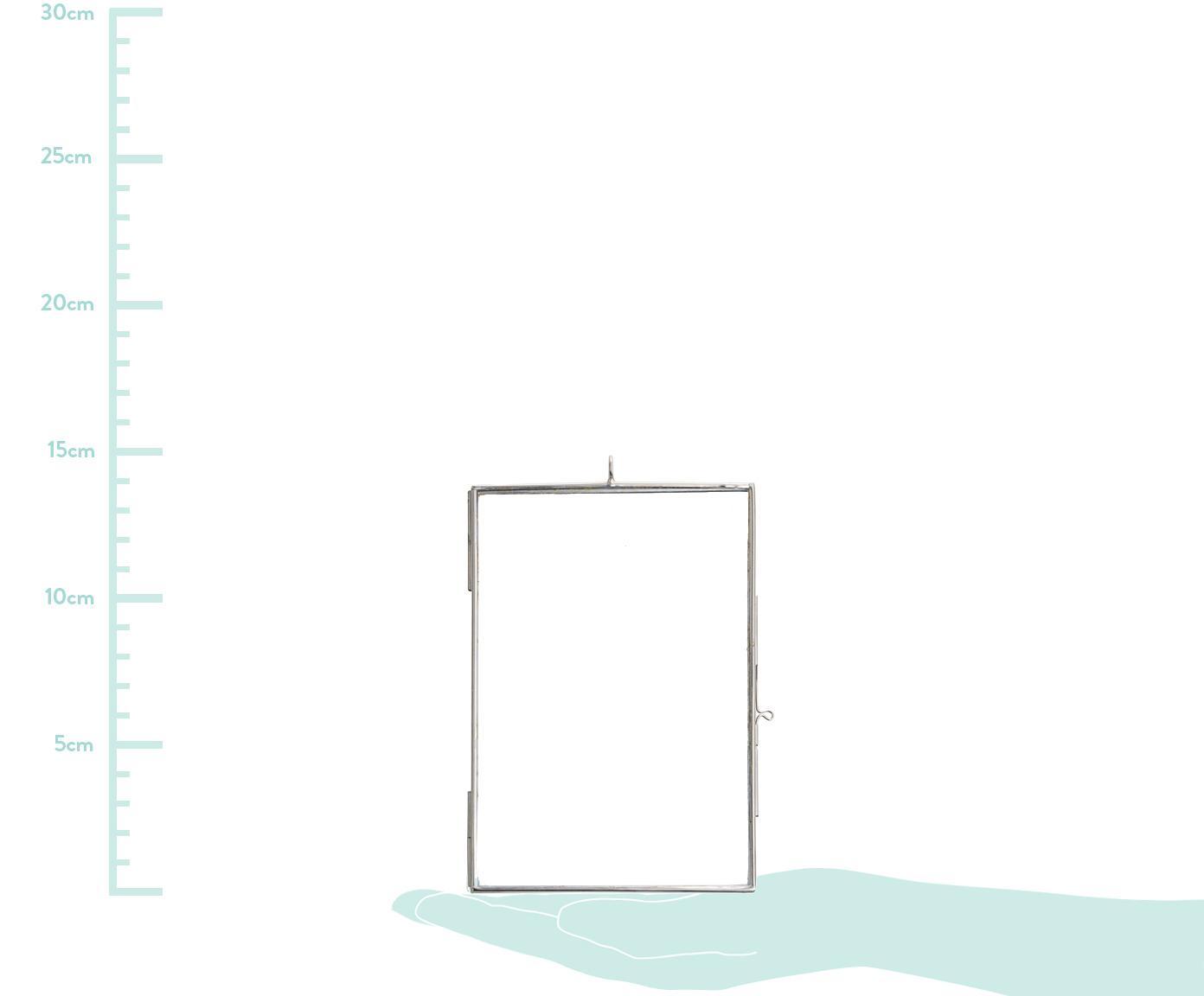 Bilderrahmen Key, Glas, Metall, beschichtet, Edelstahl, 10 x 15
