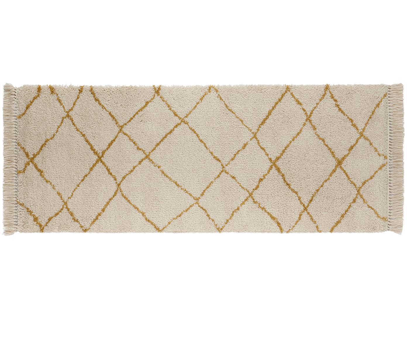 Loper Primrose, Crèmekleurig, goudgeel, 80 x 200 cm