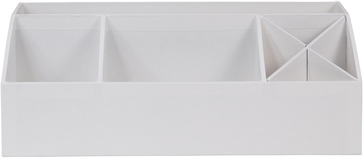 Organizador de escritorio Elisa, Cartón laminado macizo, Blanco, An 33 x Al 13 cm