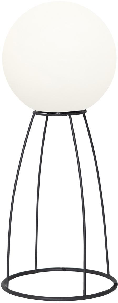 Lámpara de suelo LED de exterior Gardenlight, Pantalla: plástico, Estructura: metal, Blanco, negro, Ø 29 x Al 70 cm