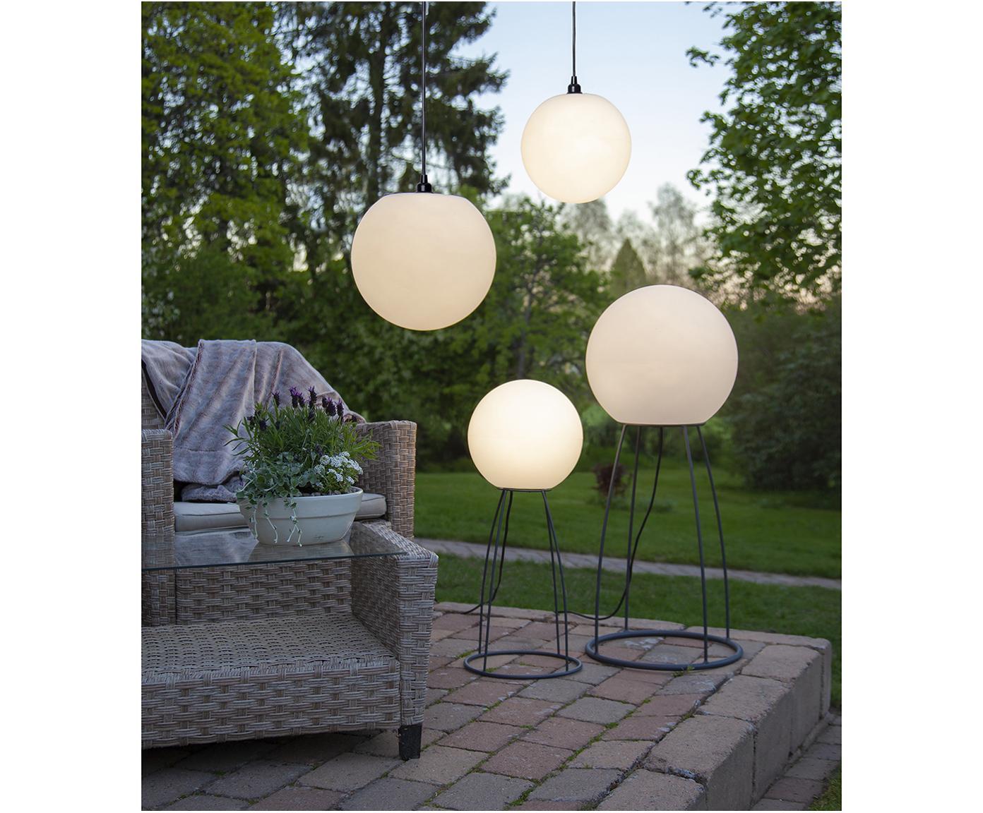 Zewnętrzna lampa LED Gardenlight, Stelaż: metal, Biały, czarny, Ø 29 x W 70 cm