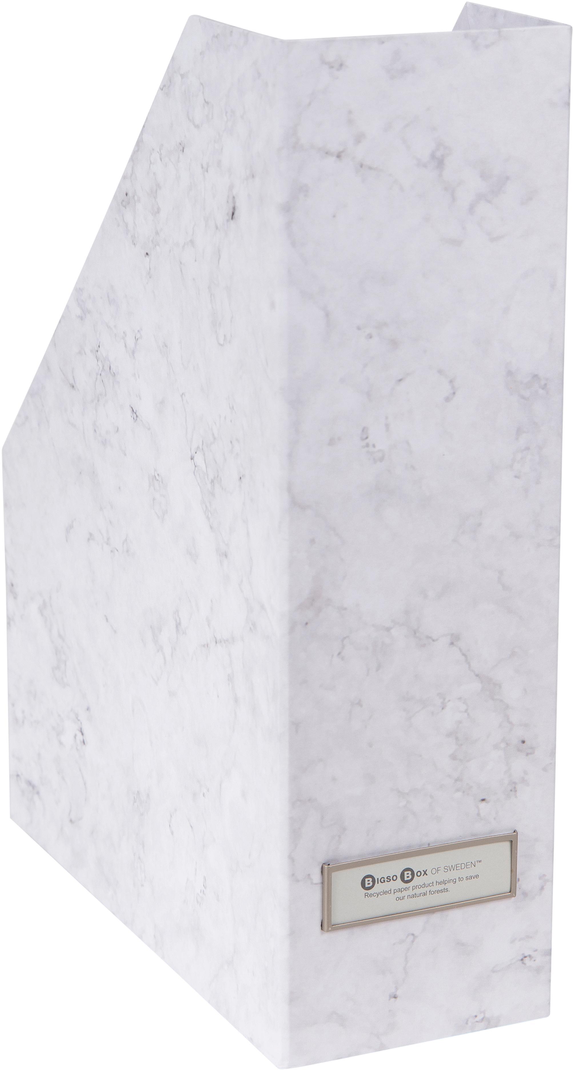 Stehsammler Viktoria, Organizer: Fester, laminierter Karto, Weiss, marmoriert, 10 x 32 cm