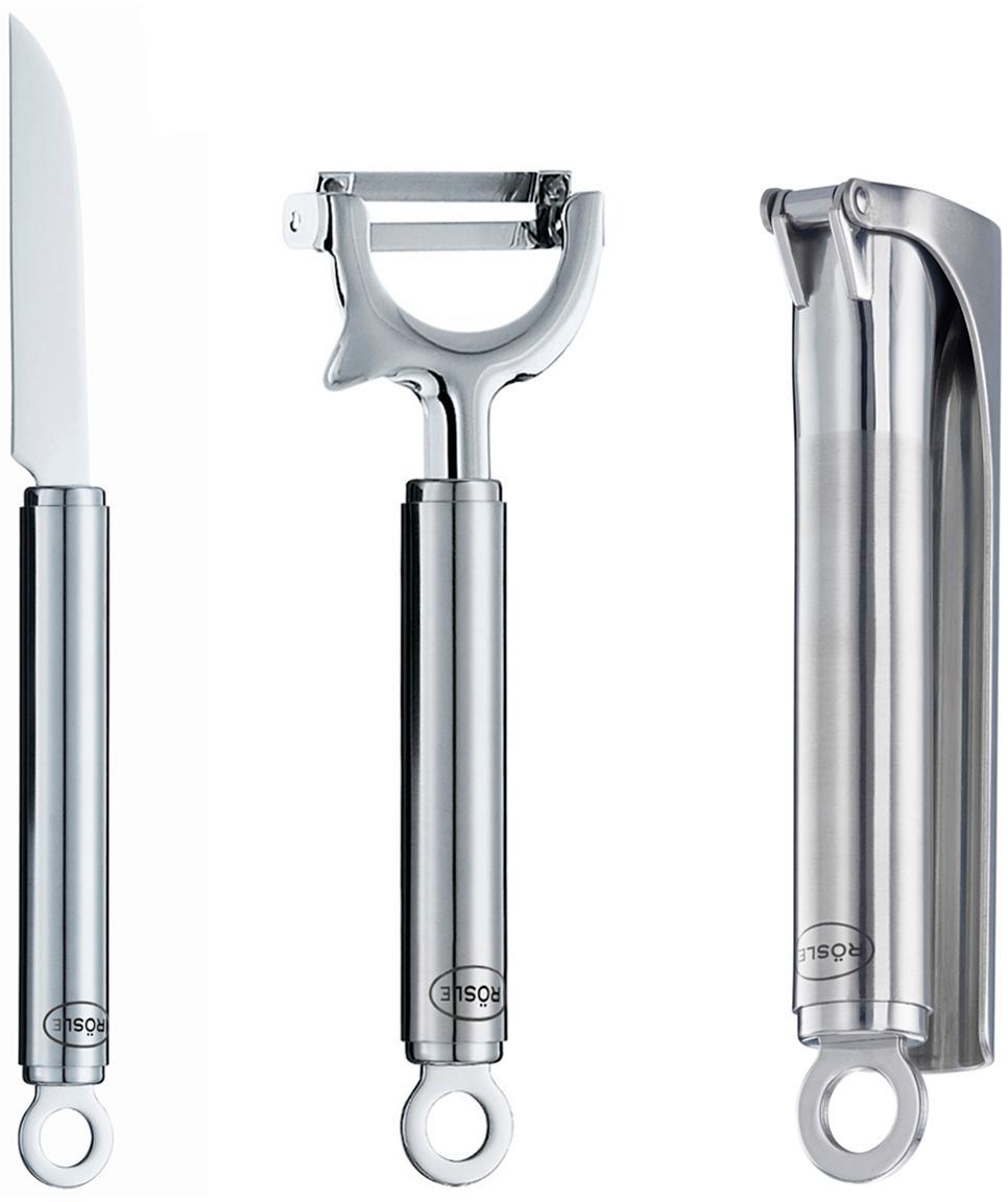 Set de utensilios de cocina Klara, 3pzas., 18/10 acero inoxidable, acero, Acero inoxidable, Set de diferentes tamaños