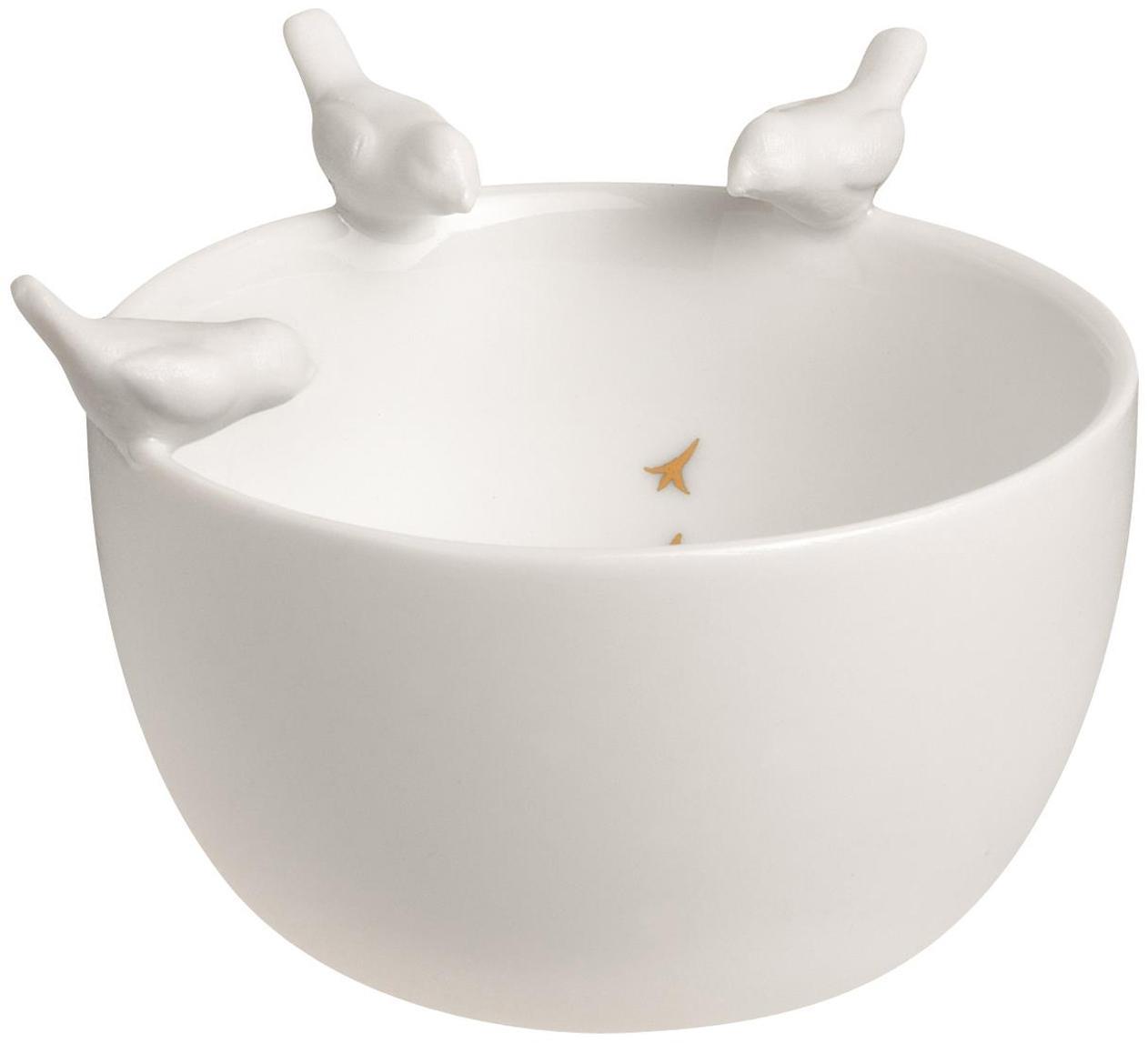 Deko-Schale Vögel, Porzellan, Weiß, Ø 8 x H 4 cm
