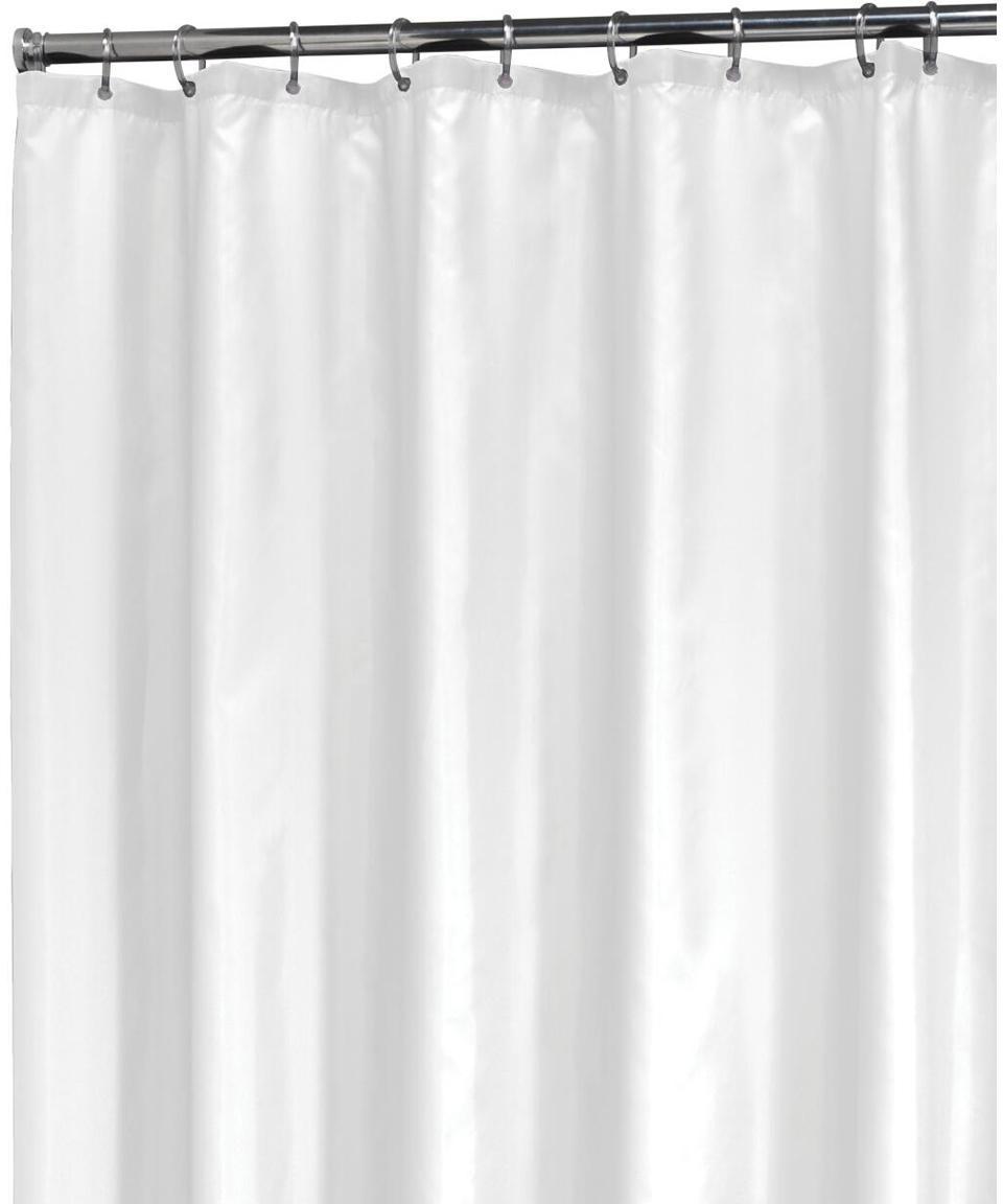 Douchegordijn Granada in wit, Polyester Waterafstotend, niet waterdicht, Wit, 180 x 200 cm