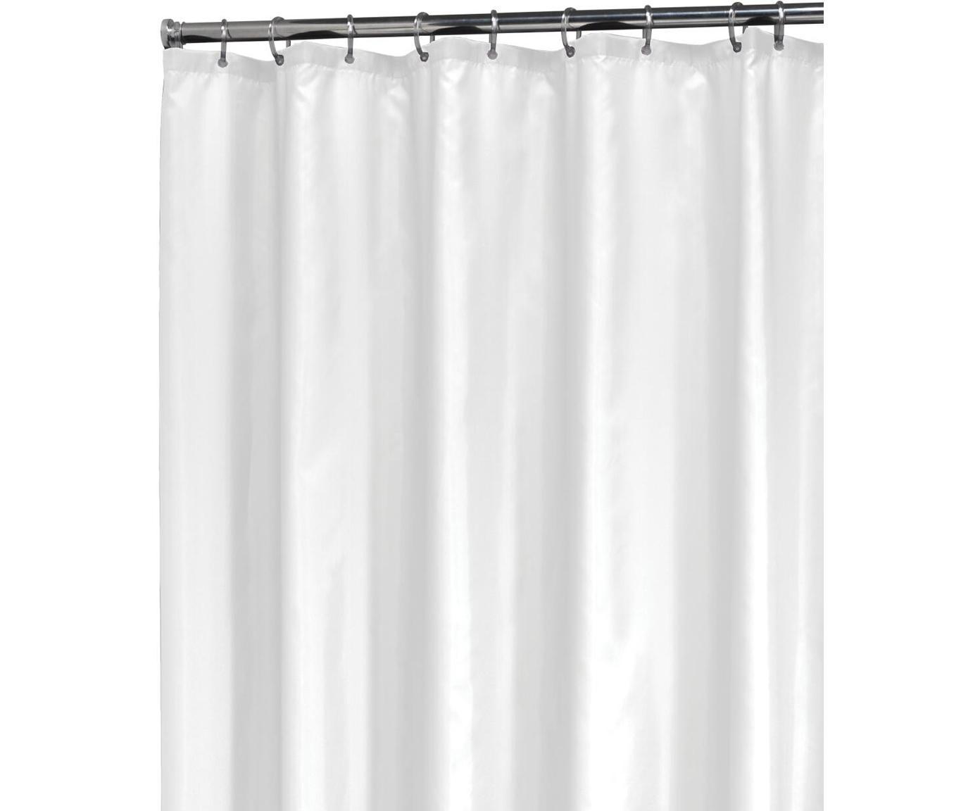 Tenda da doccia bianca Granada, Materiale sintetico (PEVA), impermeabile, Bianco, Larg. 180 x Lung. 200 cm