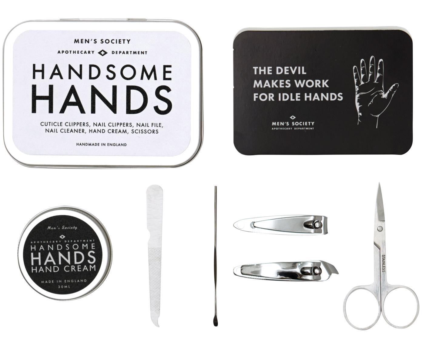 Geschenkset Handsome Hands, 6-delig, Doos: Aluminium, Edelstaalkleurig, Verschillende formaten
