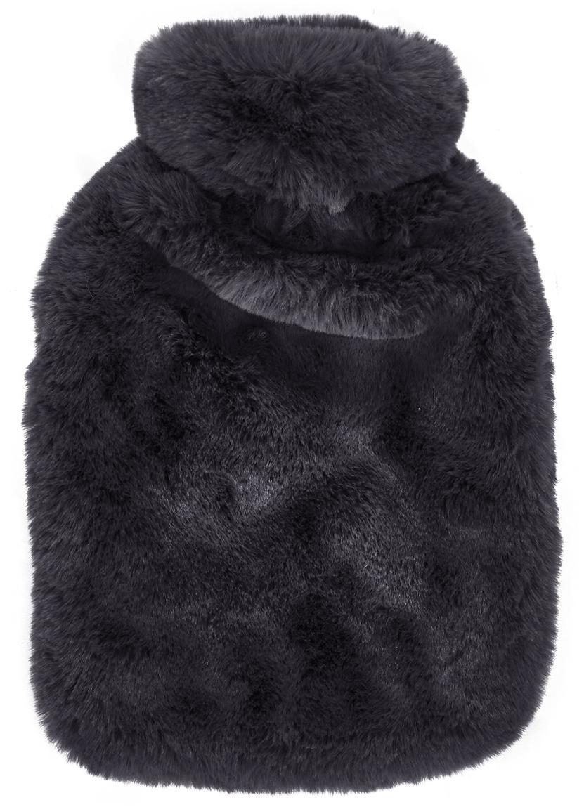 Bolsa de agua caliente de piel sintética Mette, Funda: 100%poliéster, Gris oscuro, An 20 x L 32 cm
