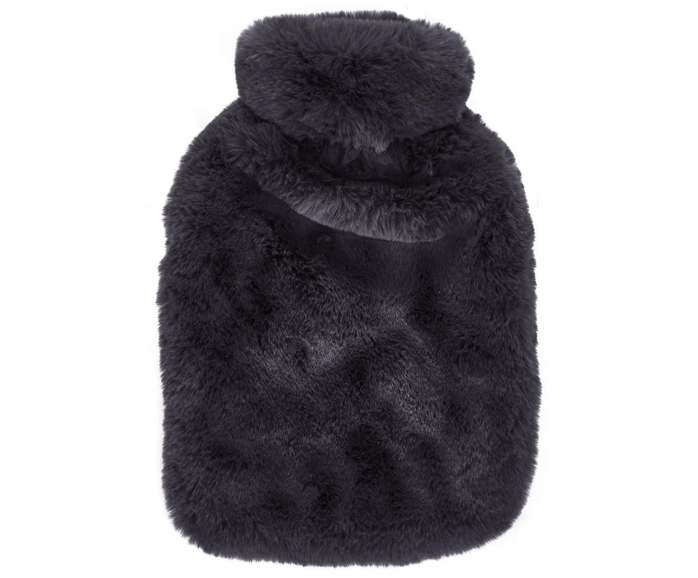 Borsa dell'acqua calda in pelliccia sintetica Mette, Rivestimento: 100% poliestere, Grigio scuro, Larg. 20 x Lung. 32 cm