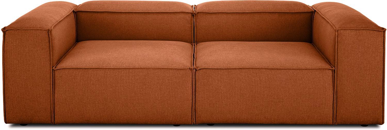 Sofá modular Lennon (3plazas), Tapizado: poliéster Alta resistenci, Estructura: madera de pino maciza, ma, Patas: plástico, Tejido terracota, An 238 x F 119 cm