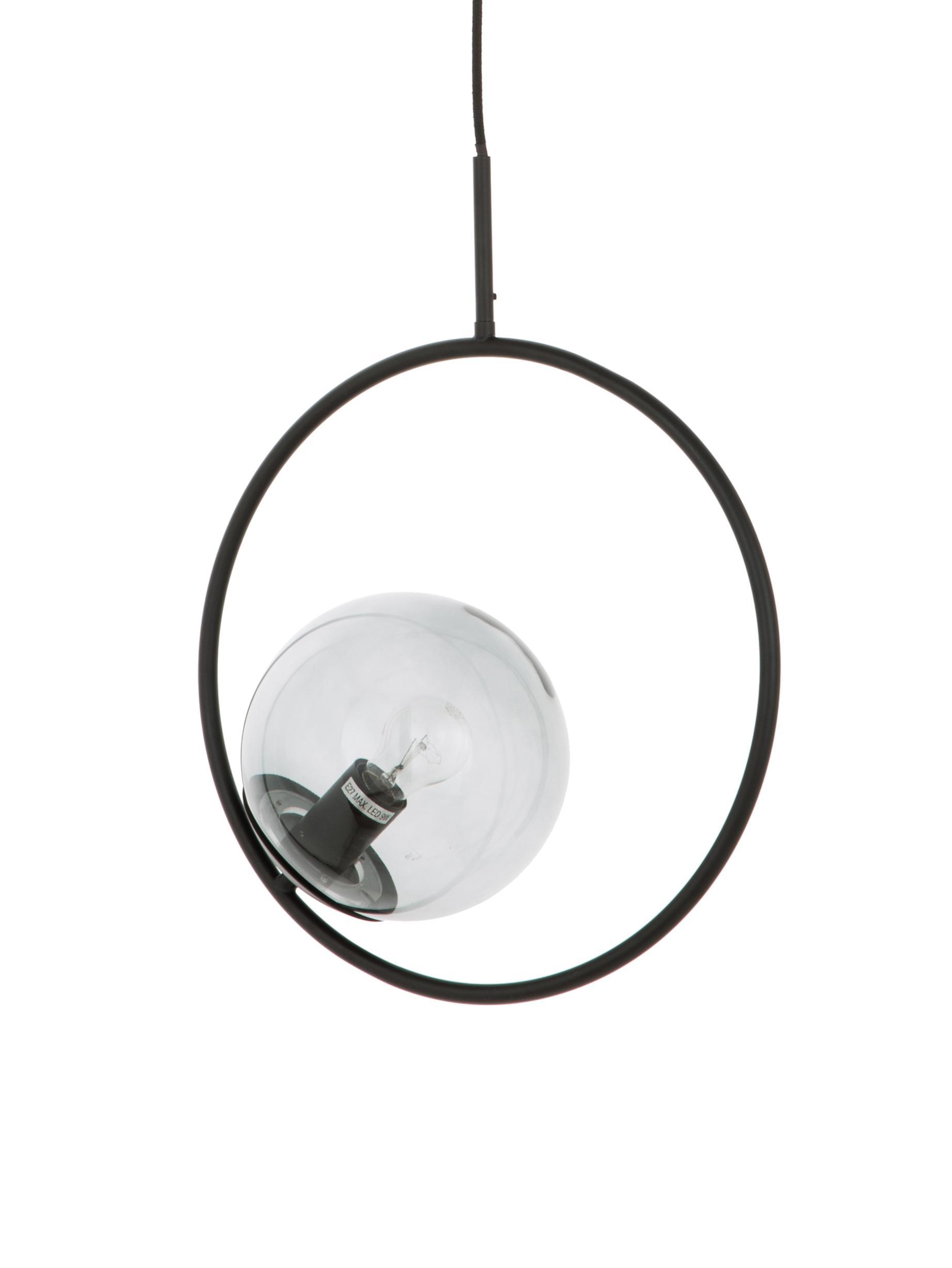 Lámpara de techo Chloe, Pantalla: vidrio, Gris, negro, An 40 x Al 51 cm