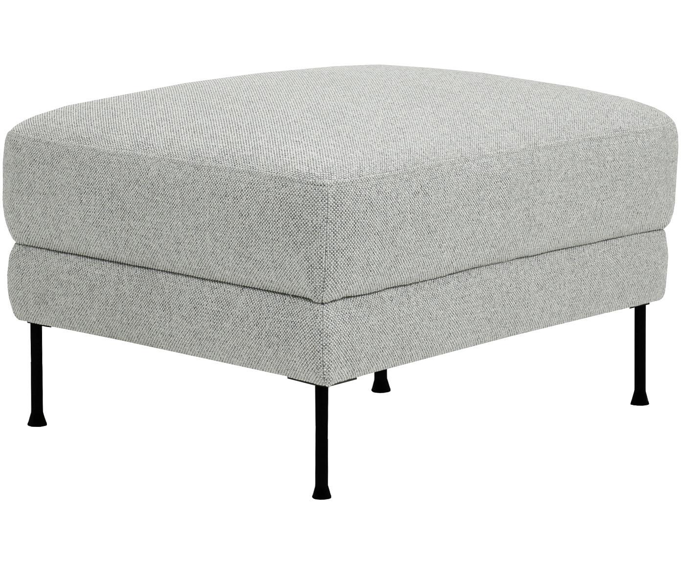 Sofa-Hocker Fluente, Bezug: Polyester 45.000 Scheuert, Gestell: Sperrholz, Spanplatte, Webstoff Hellgrau, 62 x 46 cm