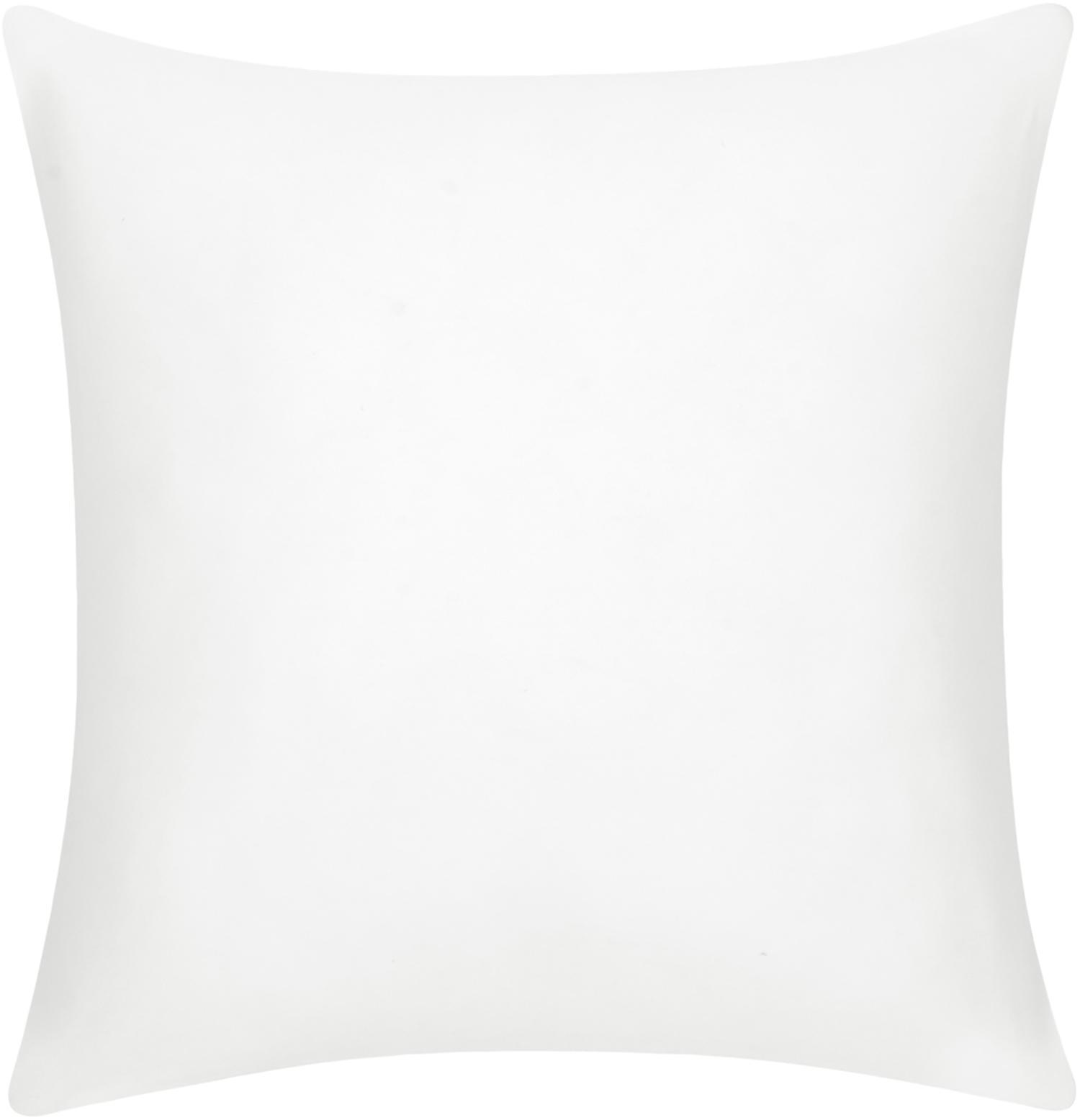 Baumwoll-Kissenhülle Mads in Weiß, 100% Baumwolle, Cremeweiß, 40 x 40 cm