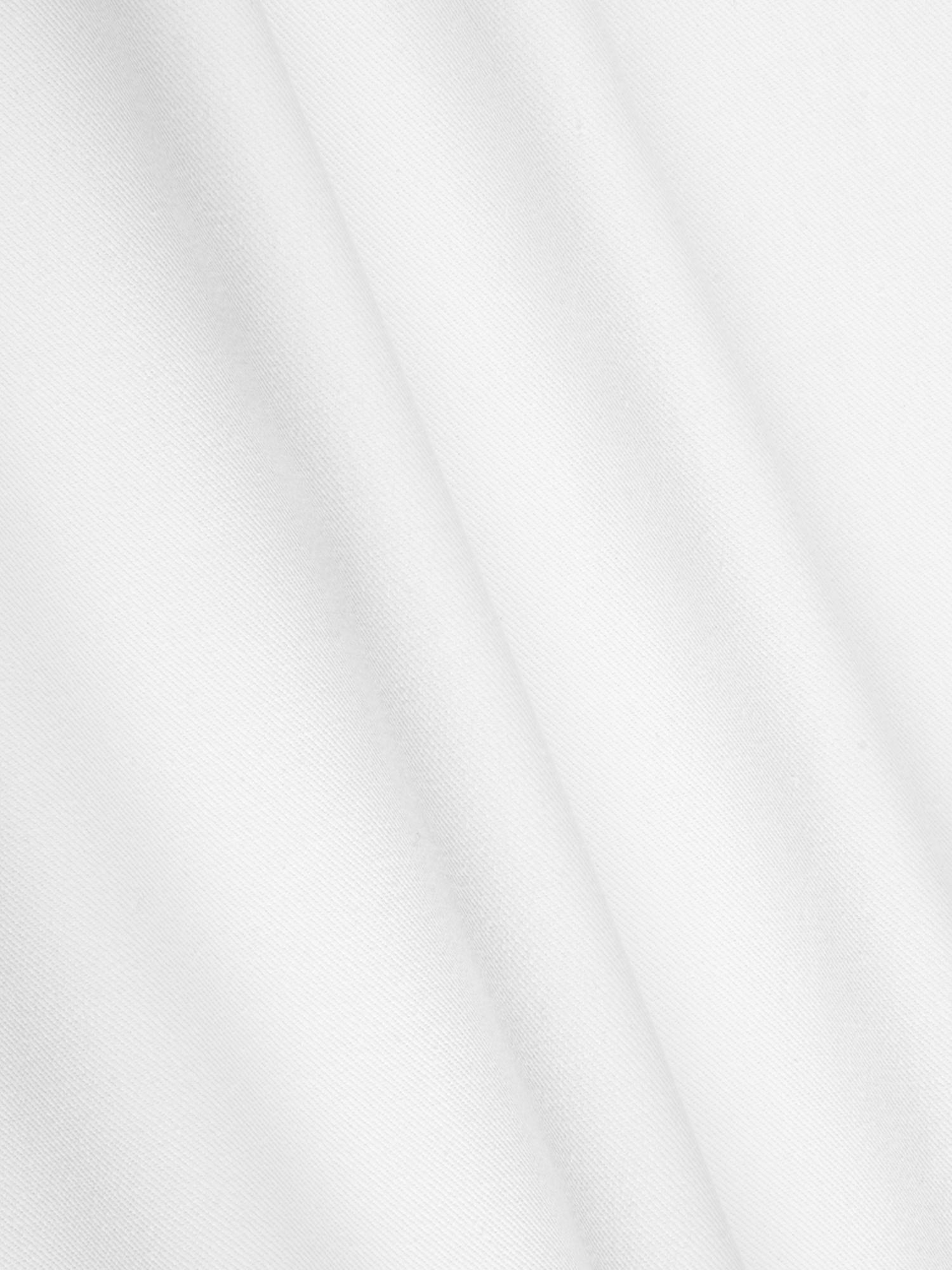 Housse de coussin coton blanc Mads, Blanc crème