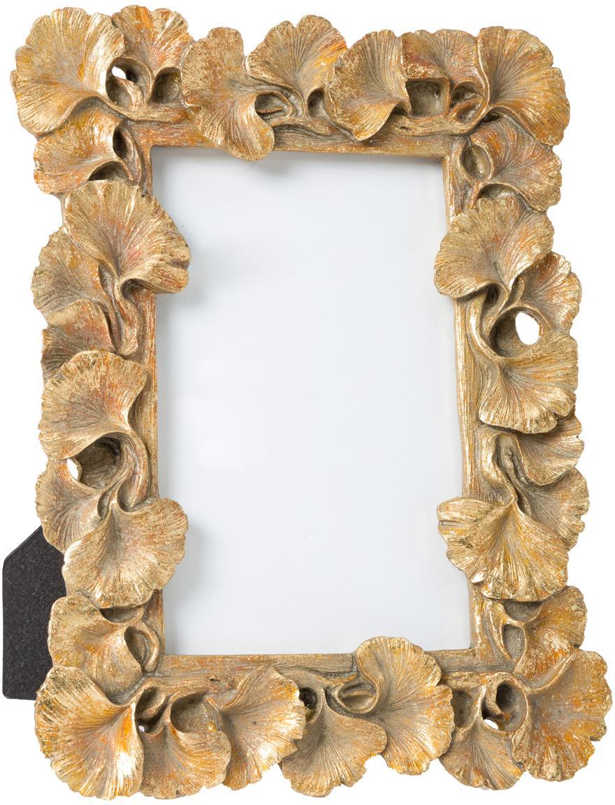 Bilderrahmen Macky, Rahmen: Polyresin, Front: Glas, Goldfarben, 10 x 15 cm