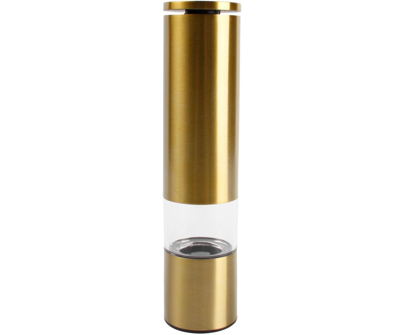 Gewürzmühle Sheda in Gold, Korpus: Acrylglas, Edelstahl, bes, Mahlwerk: Keramik, Kunststoff, Messingfarben, Ø 5 x H 22 cm