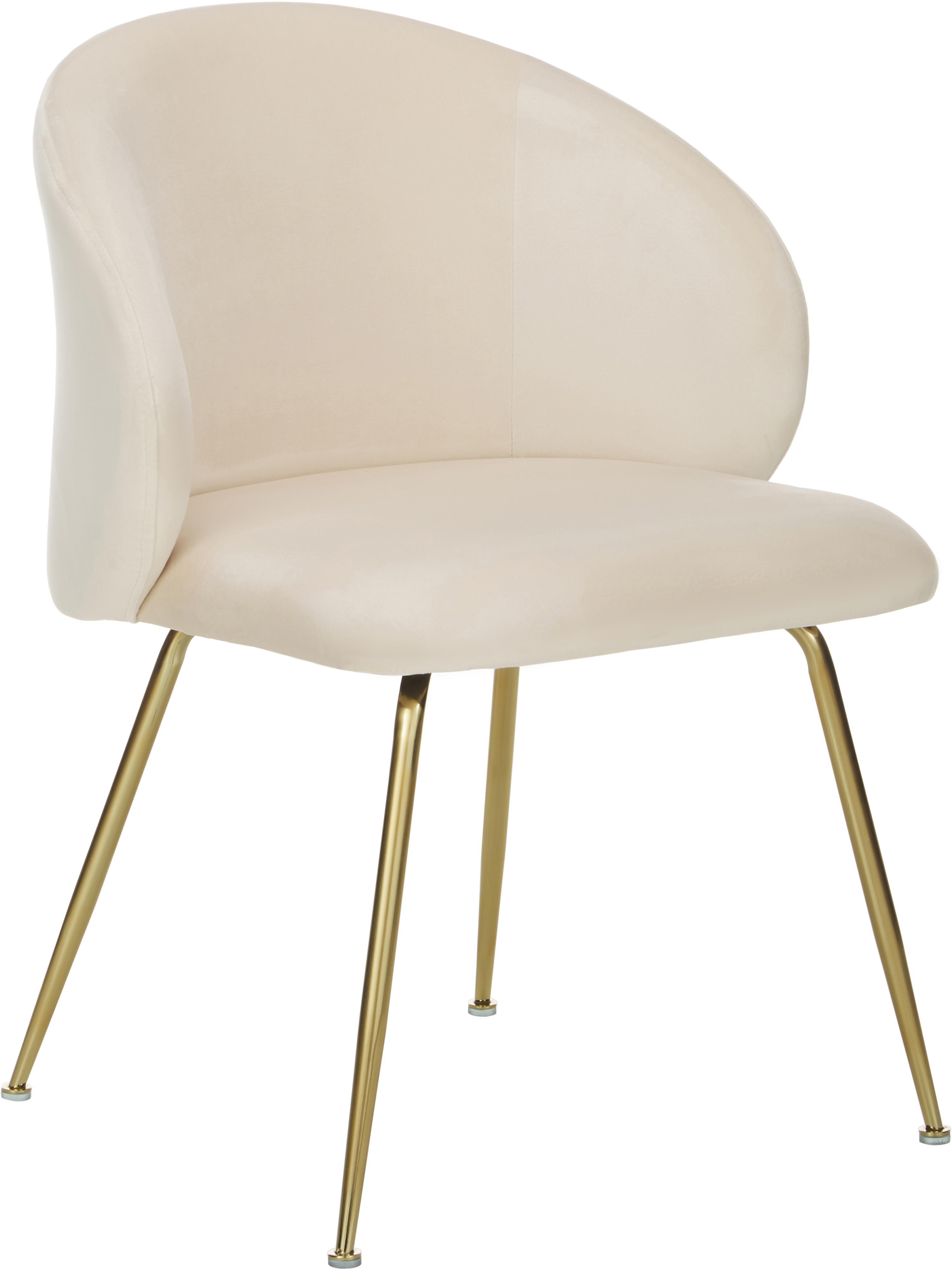 silla tapizada en terciopelo blanco