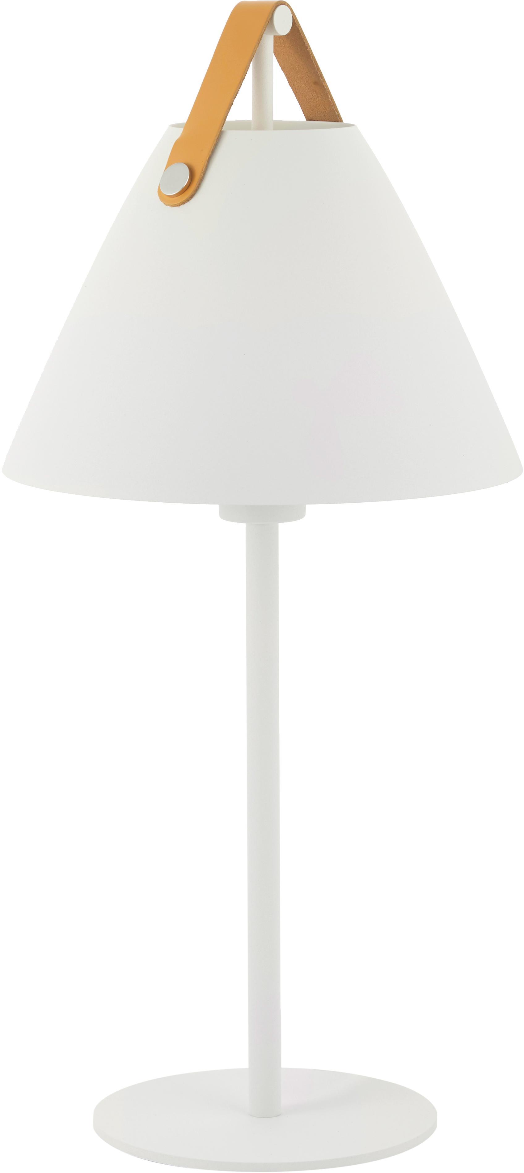 Scandi tafellamp Strap, Wit, Ø 25 x H 55 cm