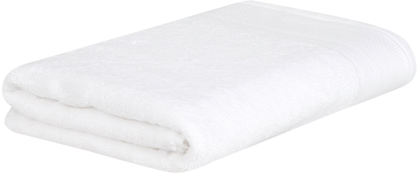 Toalla con cenefa clásica Premium, 100%algodón Gramaje superior 600g/m², Blanco, Toallas tocador