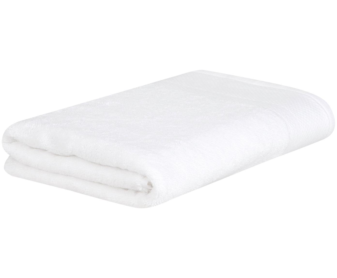 Handtuch Premium mit klassischer Zierbordüre, Weiß, XS Gästehandtuch