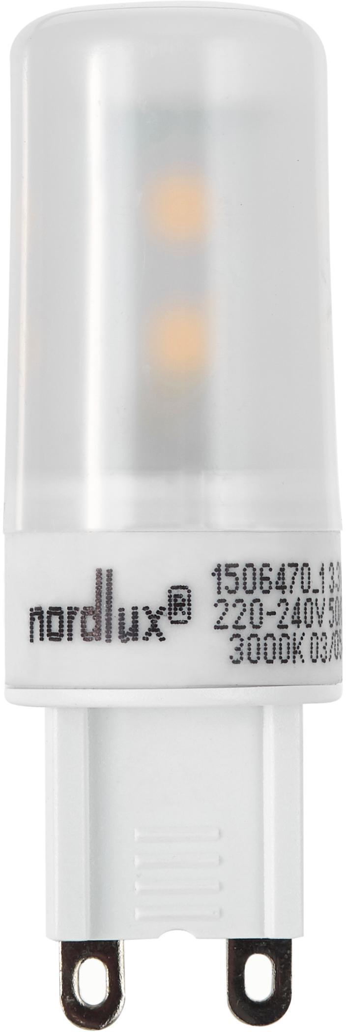 LED Leuchtmittel Gabriel (G9/3.3W), 5 Stück, Leuchtmittelschirm: Kunststoff, Leuchtmittelfassung: Aluminium, Transparent, Ø 2 x H 6 cm