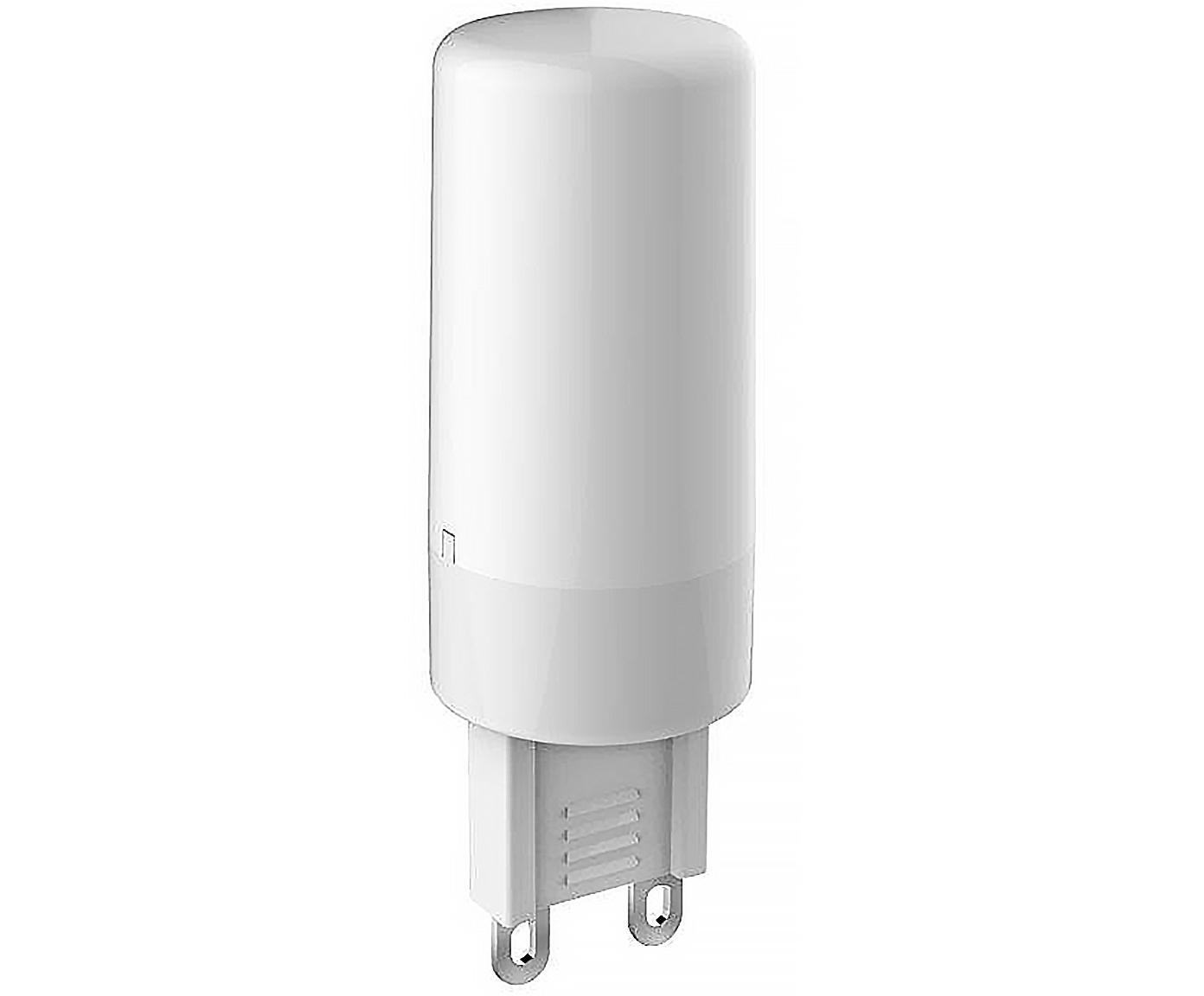 Bombillas LED Gabriel (G9/3,3W),5uds., Ampolla: plástico, Casquillo: aluminio, Transparente, Ø 2 x Al 6 cm