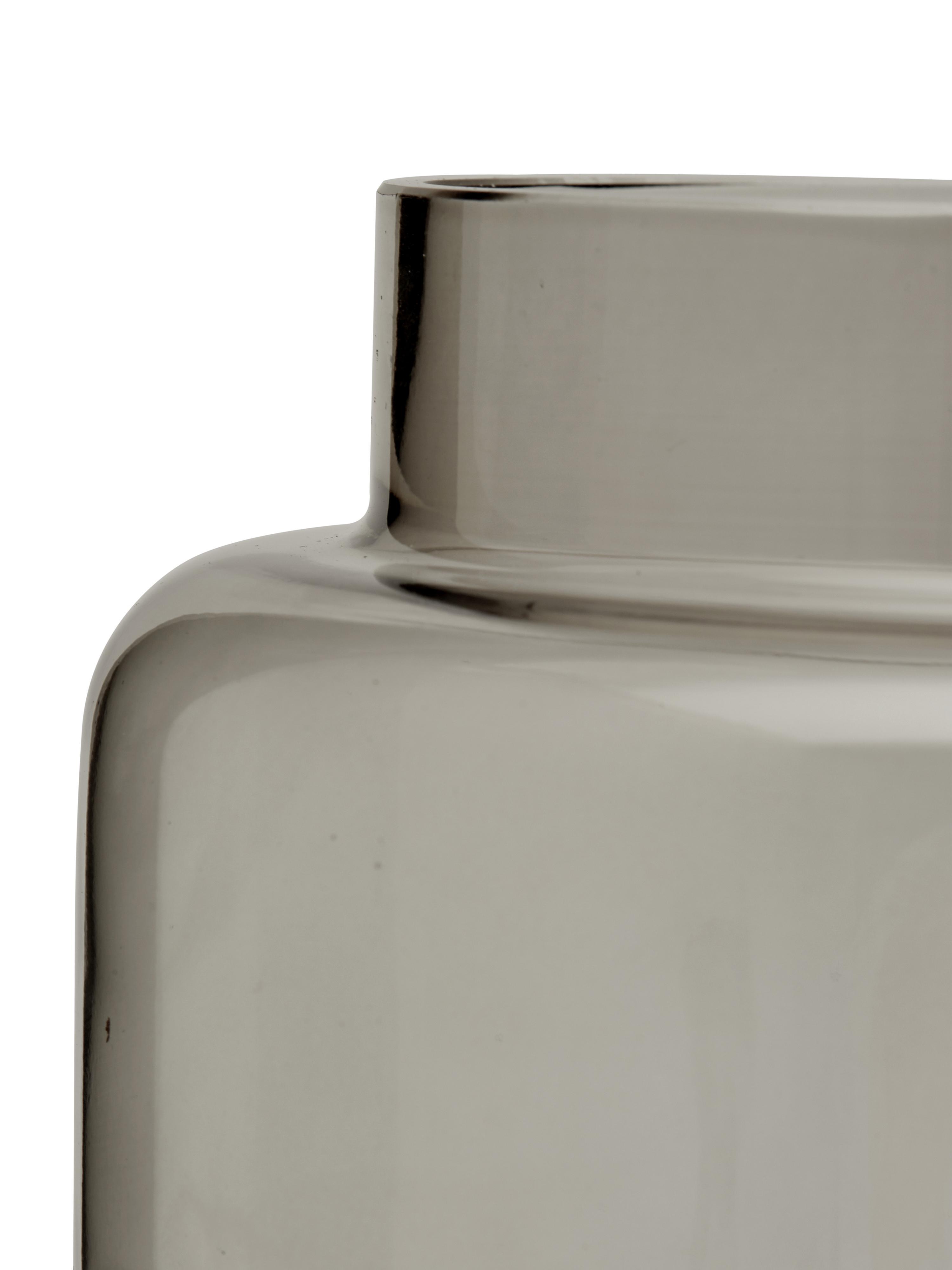 Vaso in vetro Lasse, Vetro, Grigio trasparente, Ø 16 x Alt. 14 cm