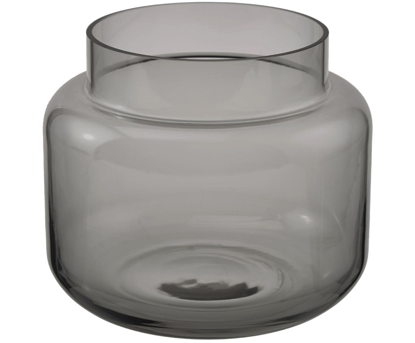 Glas-Vase Lasse, medium, Glas, Grau, transparent, ∅ 16 x H 14 cm
