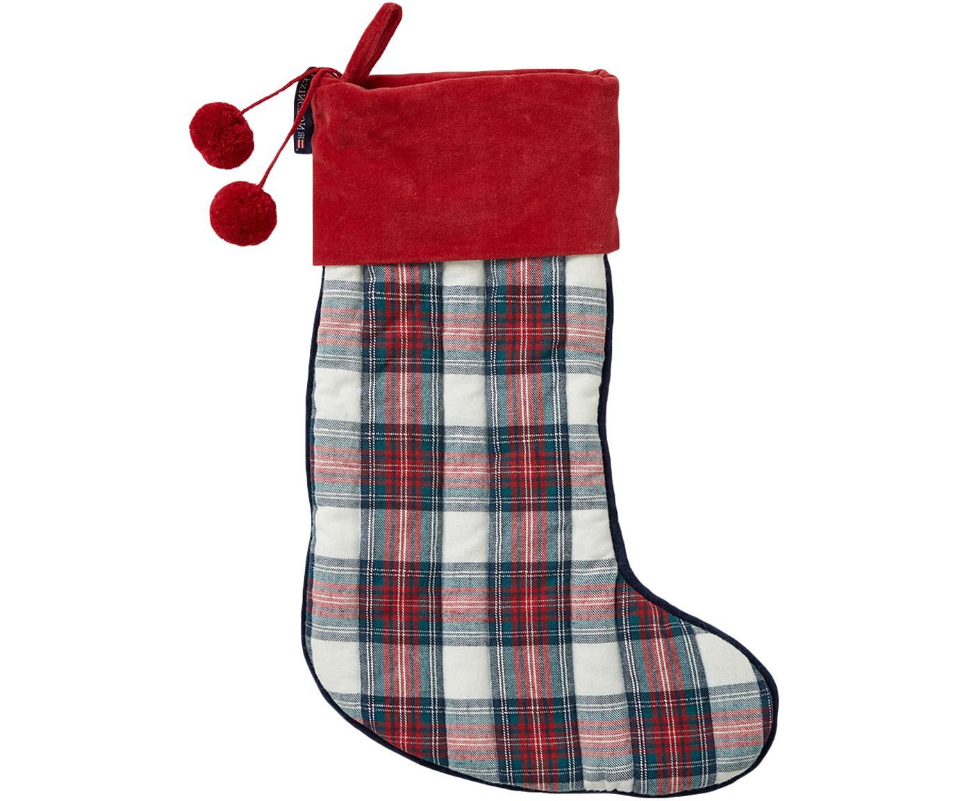 Skarpeta świąteczna Holiday, Bawełna, Czerwony, biały, ciemnyniebieski, D 230 x W 10 cm